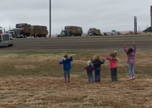 Children Cheer As Convoy of Truckers With Relief Supplies Arrive [VIDEO]