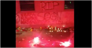 Antifa Rioters Deface Democrat Party Building In Portland After Anarchist Killed
