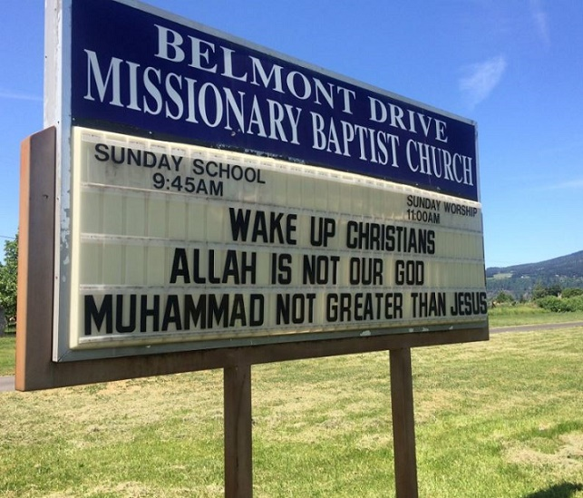 """Muslims Demand Church Remove """"Bigoted"""" Signs, Pastor Has The PERFECT Reply…"""