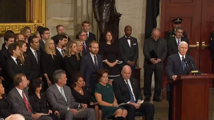 Bush Family Openly Sobs After Pence Reads Never-Before-Seen Letter H.W. Wrote His Son