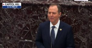 Schiff's Opening Statement Creates Mass Exodus from Senate Chamber