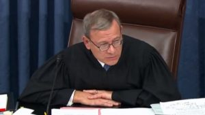 JUSTICE ROBERTS MAKES IT CLEAR: HE ISN'T DEALING WITH ANY BULLSHIT IN THE SENATE