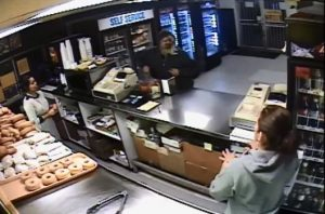 [WATCH] DONUT SHOP CLERKS CRACK UP AT WIG WEARING ROBBER!